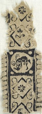 Coptic. Tapestry Weave, 5th century C.E. Flax, wool, 2 x 6 in. (5.1 x 15.2 cm). Brooklyn Museum, Gift of the Egypt Exploration Fund, 15.463. Creative Commons-BY