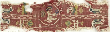 Coptic. Tapestry Weave, 6th century C.E. Flax, wool, 3 x 8 in. (7.6 x 20.3 cm). Brooklyn Museum, Gift of the Egypt Exploration Fund, 15.464. Creative Commons-BY