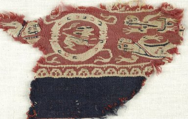 Coptic. Tapestry Weave. Wool, 3 9/16 x 5 7/8 in. (9 x 15 cm). Brooklyn Museum, Gift of the Egypt Exploration Fund, 15.465. Creative Commons-BY