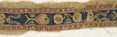 Coptic. Strips of Tapestry Weave, 5th century C.E. Flax, wool, 16.468a: 2 x 16 in. (5.1 x 40.6 cm). Brooklyn Museum, Gift of the Egypt Exploration Fund, 15.468a-b. Creative Commons-BY