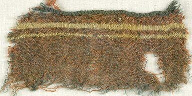 Coptic. Specimen of Woolen Weave, 5th-6th century C.E. Wool, 3 x 6 in. (7.6 x 15.2 cm). Brooklyn Museum, Gift of the Egypt Exploration Fund, 15.475f. Creative Commons-BY