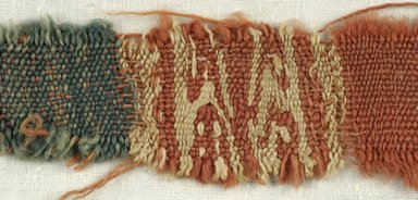Coptic. Specimen of Woolen Weave, 5th-6th century C.E. Wool, 1 x 8 in. (2.5 x 20.3 cm). Brooklyn Museum, Gift of the Egypt Exploration Fund, 15.475l. Creative Commons-BY