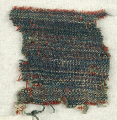Coptic. Specimen of Woolen Weave, 5th-6th century C.E. Wool, 3 x 3 in. (7.6 x 7.6 cm). Brooklyn Museum, Gift of the Egypt Exploration Fund, 15.475q. Creative Commons-BY