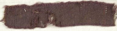 Coptic. Specimen of Woolen Weave, 5th-6th century C.E. Wool, 1 x 7 in. (2.5 x 17.8 cm). Brooklyn Museum, Gift of the Egypt Exploration Fund, 15.475s. Creative Commons-BY