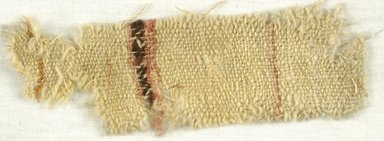 Coptic. Specimen of Woolen Weave, 5th-6th century C.E. Wool, 2 x 8 in. (5.1 x 20.3 cm). Brooklyn Museum, Gift of the Egypt Exploration Fund, 15.475u. Creative Commons-BY
