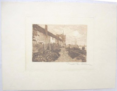 Walter Monteith Aikman (American, 1857-1939). Veere, Holland. Etching, Sheet: 9 1/16 x 11 5/8 in. (23 x 29.5 cm). Brooklyn Museum, Gift of the artist, 15.522.1