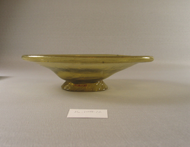 Egypto-Roman. Bowl, 4th century C.E. Glass, 2 1/16 x 5 7/8 x 7 3/8 in. (5.2 x 15 x 18.7 cm). Brooklyn Museum, Gift of Evangeline Wilbour Blashfield, Theodora Wilbour, and Victor Wilbour honoring the wishes of their mother, Charlotte Beebe Wilbour, as a memorial to their father, Charles Edwin Wilbour, 16.108.12. Creative Commons-BY
