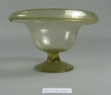 Egypto-Roman. Bowl, 4th century C.E. Glass, 2 5/16 x diam. 3 7/8 in. (5.8 x 9.8 cm). Brooklyn Museum, Gift of Evangeline Wilbour Blashfield, Theodora Wilbour, and Victor Wilbour honoring the wishes of their mother, Charlotte Beebe Wilbour, as a memorial to their father, Charles Edwin Wilbour, 16.108.24. Creative Commons-BY