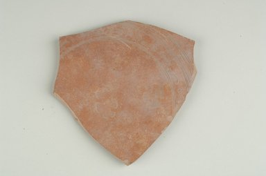 Coptic. Fragment of Samian Ware, 6th century C.E. Pottery, 5 11/16 x 1/4 x 5 15/16 in. (14.5 x 0.7 x 15.1 cm). Brooklyn Museum, Gift of Evangeline Wilbour Blashfield, Theodora Wilbour, and Victor Wilbour honoring the wishes of their mother, Charlotte Beebe Wilbour, as a memorial to their father, Charles Edwin Wilbour, 16.154.1. Creative Commons-BY