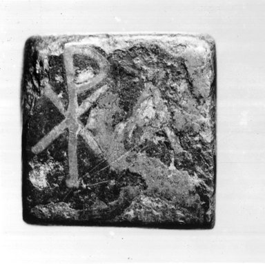 Coptic. Small Square Weight, ca. 6th century C.E. Bronze, silver, 1/4 x 7/16 x 1/2 in. (0.6 x 1.1 x 1.2 cm, 6.73 g). Brooklyn Museum, Gift of Evangeline Wilbour Blashfield, Theodora Wilbour, and Victor Wilbour honoring the wishes of their mother, Charlotte Beebe Wilbour, as a memorial to their father, Charles Edwin Wilbour, 16.359. Creative Commons-BY