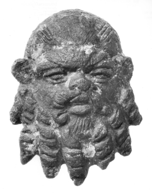 Graeco-Egyptian. Silenus Mask. Bronze Brooklyn Museum, Gift of Evangeline Wilbour Blashfield, Theodora Wilbour, and Victor Wilbour honoring the wishes of their mother, Charlotte Beebe Wilbour, as a memorial to their father, Charles Edwin Wilbour, 16.386. Creative Commons-BY