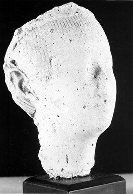 Sculptor's Model of a Female Head. Plaster, 4 1/2 x 3 5/16 in. (11.5 x 8.4 cm). Brooklyn Museum, Gift of Evangeline Wilbour Blashfield, Theodora Wilbour, and Victor Wilbour honoring the wishes of their mother, Charlotte Beebe Wilbour, as a memorial to their father, Charles Edwin Wilbour, 16.49. Creative Commons-BY