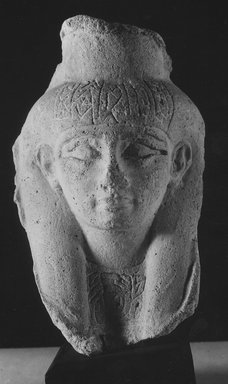 Small Sculptor's Model of a Female? Head. Plaster, 6 3/4 x 4 5/16 in. (17.2 x 10.9 cm). Brooklyn Museum, Gift of Evangeline Wilbour Blashfield, Theodora Wilbour, and Victor Wilbour honoring the wishes of their mother, Charlotte Beebe Wilbour, as a memorial to their father, Charles Edwin Wilbour, 16.52. Creative Commons-BY
