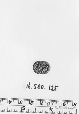 Nubian. Scarab. Steatite, glazed, 1/4 x 1/2 x 5/8 in. (0.7 x 1.2 x 1.6 cm). Brooklyn Museum, Gift of Evangeline Wilbour Blashfield, Theodora Wilbour, and Victor Wilbour honoring the wishes of their mother, Charlotte Beebe Wilbour, as a memorial to their father, Charles Edwin Wilbour, 16.580.125. Creative Commons-BY