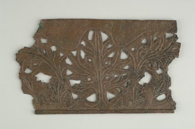 Roman. Openwork Frieze. Bronze, 4 1/8 x 1/8 (Depth) x 7 5/16 in. (10.5 x 0.3 x 18.5 cm). Brooklyn Museum, Gift of Evangeline Wilbour Blashfield, Theodora Wilbour, and Victor Wilbour honoring the wishes of their mother, Charlotte Beebe Wilbour, as a memorial to their father, Charles Edwin Wilbour, 16.580.140. Creative Commons-BY