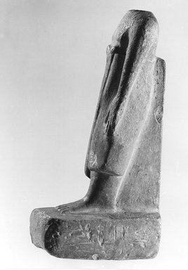Statuette, ca. 2008 - 1539 B.C.E. Limestone, 7 1/2 x 2 1/2 x 4 in. (19.1 x 6.4 x 10.2 cm). Brooklyn Museum, Gift of Evangeline Wilbour Blashfield, Theodora Wilbour, and Victor Wilbour honoring the wishes of their mother, Charlotte Beebe Wilbour, as a memorial to their father, Charles Edwin Wilbour, 16.580.154. Creative Commons-BY