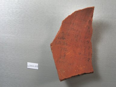 Demotic. Demotic Ostracon. Terracotta, pigment, 4 x 3/8 x 6 1/2 in. (10.1 x 1 x 16.5 cm). Brooklyn Museum, Gift of Evangeline Wilbour Blashfield, Theodora Wilbour, and Victor Wilbour honoring the wishes of their mother, Charlotte Beebe Wilbour, as a memorial to their father, Charles Edwin Wilbour, 16.580.463. Creative Commons-BY