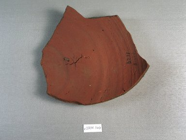 Demotic. Demotic Ostracon. Terracotta, pigment, 5 1/2 x 3/8 x 5 13/16 in. (13.9 x 0.9 x 14.8 cm). Brooklyn Museum, Gift of Evangeline Wilbour Blashfield, Theodora Wilbour, and Victor Wilbour honoring the wishes of their mother, Charlotte Beebe Wilbour, as a memorial to their father, Charles Edwin Wilbour, 16.580.464. Creative Commons-BY