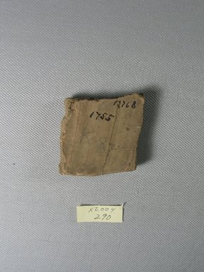 Demotic. Demotic Ostracon, Year 9 (of Ptolemy II Philadelphus?). Terracotta, pigment, 2 5/16 x 1/4 x 2 11/16 in. (5.9 x 0.7 x 6.9 cm). Brooklyn Museum, Gift of Evangeline Wilbour Blashfield, Theodora Wilbour, and Victor Wilbour honoring the wishes of their mother, Charlotte Beebe Wilbour, as a memorial to their father, Charles Edwin Wilbour, 16.580.508. Creative Commons-BY