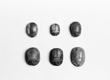 Scarab. Steatite, 9/16in. (1.4cm). Brooklyn Museum, Gift of the Egypt Exploration Society, 25.886.3. Creative Commons-BY