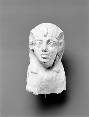 Head and Forepart of Body of Sphinx, 2nd-3rd century C.E. (probably). Limestone, 9 3/16 x 6 1/2 in. (23.3 x 16.5 cm). Brooklyn Museum, Gift of Evangeline Wilbour Blashfield, Theodora Wilbour, and Victor Wilbour honoring the wishes of their mother, Charlotte Beebe Wilbour, as a memorial to their father, Charles Edwin Wilbour, 16.622. Creative Commons-BY