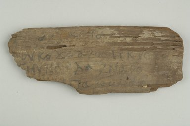 Small Fragment. Wood, 2 1/2 x 6 1/2 in. (6.3 x 16.5 cm). Brooklyn Museum, Gift of Evangeline Wilbour Blashfield, Theodora Wilbour, and Victor Wilbour honoring the wishes of their mother, Charlotte Beebe Wilbour, as a memorial to their father, Charles Edwin Wilbour, 16.646. Creative Commons-BY