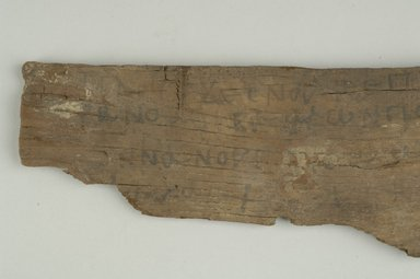 Fragmentary Board. Wood, 2 15/16 x 5/16 x 12 1/4 in. (7.4 x 0.8 x 31.1 cm). Brooklyn Museum, Gift of Evangeline Wilbour Blashfield, Theodora Wilbour, and Victor Wilbour honoring the wishes of their mother, Charlotte Beebe Wilbour, as a memorial to their father, Charles Edwin Wilbour, 16.647. Creative Commons-BY