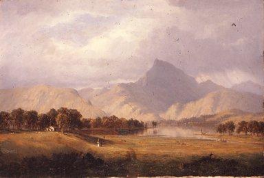 Sanford Robinson Gifford (American, 1823-1880). Derwentwater, 1856. Oil on canvas, 17 5/8 x 25 1/2 in. (44.8 x 64.8 cm). Brooklyn Museum, Museum Collection Fund, 18.48