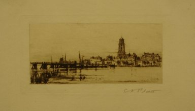 Charles Adams Platt (American, 1861-1933). Deventer, 1885. Etching on white laid paper, Sheet: 4 15/16 x 8 in. (12.5 x 20.3 cm). Brooklyn Museum, Gift of Frank L. Babbott, 19.117