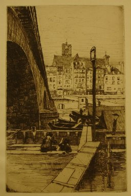 Charles Adams Platt (American, 1861-1933). St. Gervais, Paris, 1887. Etching on laid paper, Sheet: 11 1/4 x 8 13/16 in. (28.6 x 22.4 cm). Brooklyn Museum, Gift of Frank L. Babbott, 19.118
