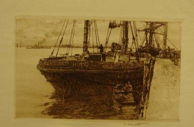 Charles Adams Platt (American, 1861-1933). The Schooner, 19th century. Etching on wove paper, Sheet: 10 5/16 x 13 1/2 in. (26.2 x 34.3 cm). Brooklyn Museum, Gift of Frank L. Babbott, 19.120