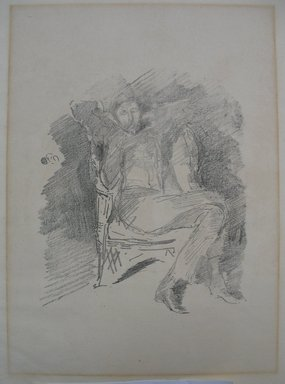 James Abbott McNeill Whistler (American, 1834-1903). Firelight - Joseph Pennel, No. 1, 1896. Lithograph, 14 1/2 x 10 5/8 in. (36.8 x 27 cm). Brooklyn Museum, Museum Collection Fund, 19.124