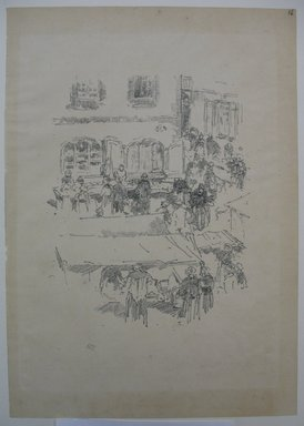 James Abbott McNeill Whistler (American, 1834-1903). The Market - Place, Vitre, 1893. Lithograph, 13 1/16 x 9 3/16 in. (33.2 x 23.3 cm). Brooklyn Museum, Purchased with funds given by Edward C. Blum, William A. Putnam and the Museum Collection Fund, 19.127