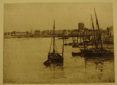 Charles Adams Platt (American, 1861-1933). Dieppe, 1887. Etching on wove paper, Sheet: 14 5/16 x 18 3/4 in. (36.4 x 47.6 cm). Brooklyn Museum, Gift of Frank L. Babbott, 19.139