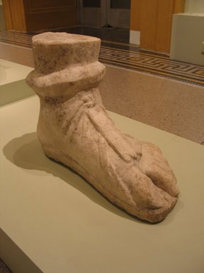 Roman. Colossal Left Foot, 1st-2nd century. Marble, 13 x 7 7/8 x 18 1/2 in. (33 x 20 x 47 cm). Brooklyn Museum, Robert B. Woodward Memorial Fund, 19.170. Creative Commons-BY