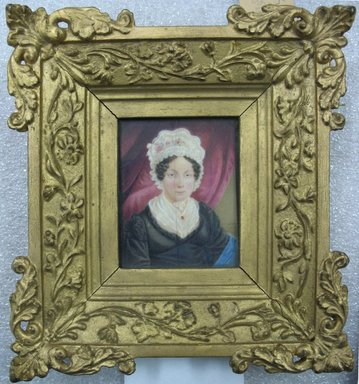 T.J.H.. Portrait of Mrs. John Skinner Griffen, 1820. Watercolor on ivory portrait in gilt wood frame under glass, Image (sight): 3 7/16 x 2 3/4 in. (8.7 x 7 cm). Brooklyn Museum, Gift of Mrs. Griffin Welsh, 19.173