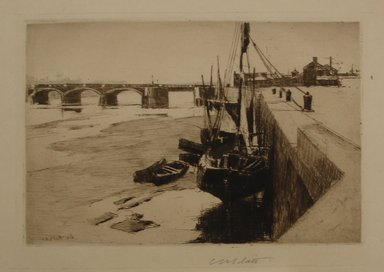 Charles Adams Platt (American, 1861-1933). Inner Port, Trouville, 1888. Etching, Sheet: 10 13/16 x 13 3/4 in. (27.5 x 34.9 cm). Brooklyn Museum, Gift of Frank L. Babbott, 19.181.1