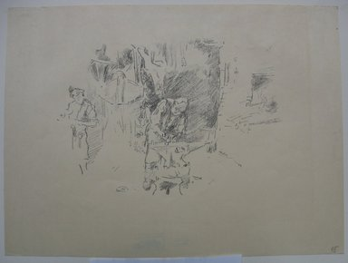 James Abbott McNeill Whistler (American, 1834-1903). The Sunny Smithy, 1895. Lithograph, 9 1/8 x 12 1/4 in. (23.2 x 31.1 cm). Brooklyn Museum, Purchased with funds given by Edward C. Blum, William A. Putnam and the Museum Collection Fund, 19.183