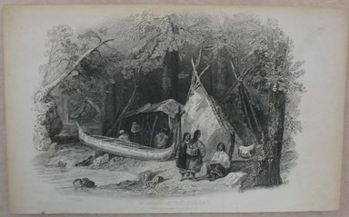 William Wellstood (American, 1819-1900). Wigwam in the Forest. Engraving, Sheet: 5 3/8 x 8 9/16 in. (13.6 x 21.8 cm). Brooklyn Museum, Gift of Mrs. Algernon Sydney Sullivan and George H. Sullivan, 19.184.70