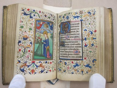 Flemish. Horae Beatae Mariae Virginis, ca.1460. Manuscript with opaque watercolor and ink with gold, book: 4 x 3 in. (10.2 x 7.6 cm). Brooklyn Museum, Bequest of Mary Benson, 19.71