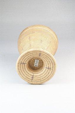 Tutsi. Basket and Lid, late 19th century. Vegetal fiber, height: 5 in. (12.7 cm); top diameter: 4 1/8 in. (10.5 cm). Brooklyn Museum, 1912a-b. Creative Commons-BY