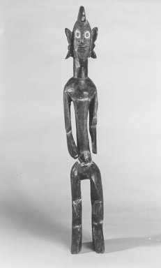 Mumuye. Standing Figure, 20th century. Wood, kaolin, 34 x 4 3/4 x 6 1/2 in. (86.3 x 12.2 x 16.5 cm). Brooklyn Museum, Gift of Marc and Ruth Franklin, 1989.170. Creative Commons-BY