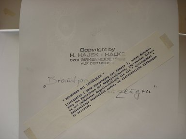 Heinz Hajek-Halke. Brautpaar mit Trauzeugen, ca. 1950s. Vintage silver print on photostat paper, 11 1/4 x 8 in. Brooklyn Museum, Gift of Eileen and Adam Boxer, 1989.190.4. © Estate of Heinz Hajek-Halke
