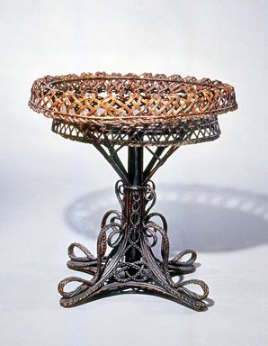 Plant Stand, late 19th century. Wicker, wood, 32 x 30 x 23 1/2 in.  (81.3 x 76.2 x 59.7 cm). Brooklyn Museum, Gift of Mr. and Mrs. Bruce M. Newman, 1990.230.12. Creative Commons-BY