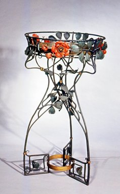 Plant Stand, ca. 1905. Painted iron, 44 1/4 x 25 x 25 in.  (112.4 x 63.5 x 63.5 cm). Brooklyn Museum, Gift of Mr. and Mrs. Bruce M. Newman, 1990.230.2. Creative Commons-BY