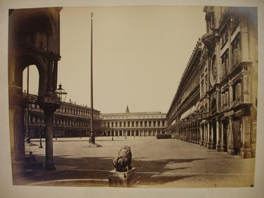 Carlo Ponti. Piazza de San Marco della Chiesa, Venice, ca. 1865. Albumen silver photograph, 10 1/2 x 14 in. Brooklyn Museum, Gift of Alan Schlussel, 1990.242.6