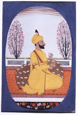 Indian. Portrait of Raja Amur Singh of Patiala, ca. 1830. Opaque watercolor and gold on paper, sheet: 10 11/16 x 7 9/16 in.  (27.1 x 19.2 cm). Brooklyn Museum, Gift of Emily Manheim Goldman, 1991.180.7