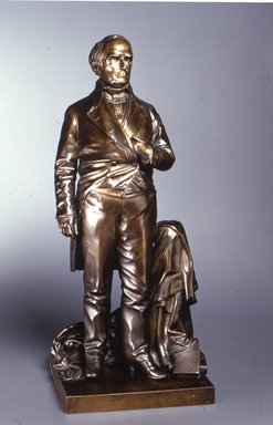 Thomas Ball (American, 1819-1911). Daniel Webster, 1853. Bronze, Overall: 29 9/16 x 13 1/4 x 11 in. (75.1 x 33.7 x 27.9 cm). Brooklyn Museum, Gift of M. Christmann Zulli, 1991.269. Creative Commons-BY