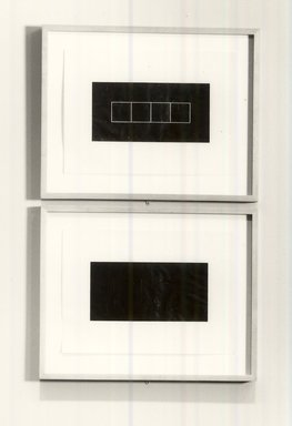 Frank Gerritz (German, born 1964). Block Formation III, 1990. Graphite on wove paper, each panel: 16 9/16 x 23 1/8 in. (42.1 x 58.7 cm). Brooklyn Museum, Purchase gift of Werner H. and Sarah-Ann Kramarsky, 1991.67a-b. © Frank Gerritz