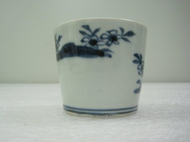 Soba Cup, One from a Set of Five, 19th century. Porcelain with underglaze blue decoration, height: 2 3/8 in. Brooklyn Museum, Gift of the Estate of Charles A. Brandon, 1991.74.24. Creative Commons-BY